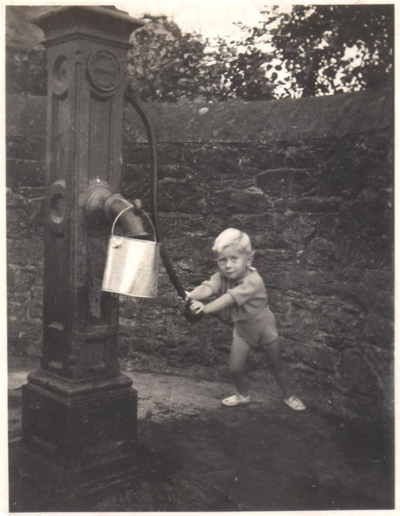 Peter at Warringtons pump 1940