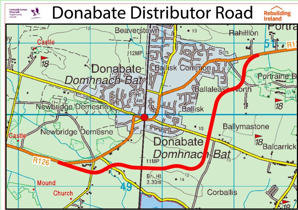 Donabate Distributor Road Main Map